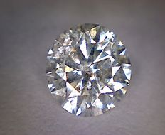0.73 ct diamond – Round cut – Colour: D - Clarity: SI2