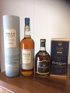 2 bottles - Oban Little Bay 1ltr, 43%  & Dalwhinnie Distillers Edition 1997-2014 70ml, 43%