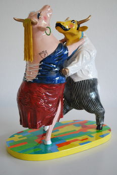 Rodolfo Stanley for CowParade - Dancing Cows - Large - retired