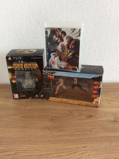 Lot of 2 Ps3 limited edition. Street fighter IV and Duke Nukem forever