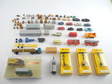 Wiking/Herkat N – 942/939/3057/a.o. - 19 cars/Trucks + 3 lanterns + lots of accessories, including fire department [700]