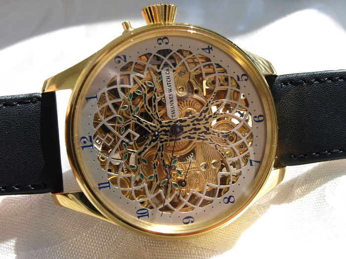 50 Tavannes Watch Co. - Skeleton Men's marriage watch - 1908-1910