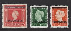 Indonesia 1948 - Aid Edition - NVPH 359, 360, 361