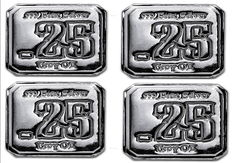 United States - Suns of Liberty Mint - silver square - 4 pieces - 8 angular squares of 999 silver bars - hand cast - unique