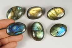 Labradorite big lot - intensive labradorescence - full polished - 167gm (6)