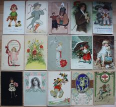 Lot mit 4000 postcards from before 1945 - everything in small format from estate! Huge treasure trove / collection