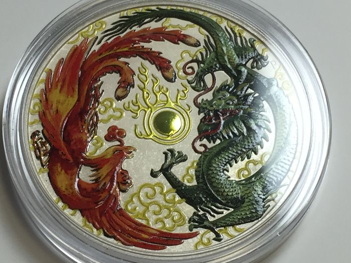 Australia - 1 Dollar 2017 'Phoenix and Dragon' colour edition - 1 oz silver