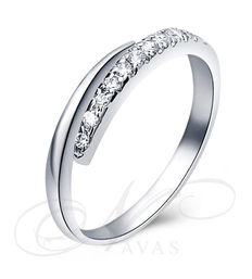 Joaquim Verdu - White gold wedding ring with 0.25 ct diamonds - 16.8 mm