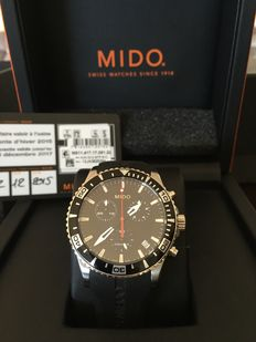 Mido M0114171705190 OCEAN STAR CAPTAIN chronograph men's watch, like new, guarantee 12/17