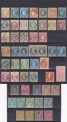France 1853/98 - a selection of Ceres , Emperor Napoleon Sage I and II type