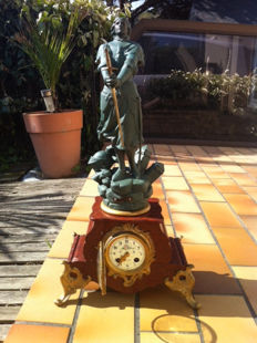 Joan of Arc clock - H.E. Allouard - Late 19th