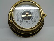 Barostar porthole barometer in brass and glass - Made in France - 1980 -.