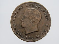 Kingdom of Italy – 3 cents 1810 (Bologna) – Napoleon – variation (0 on the second 1 of the date)