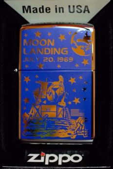 We walked on the Moon July 20, 1969, zippo lighter