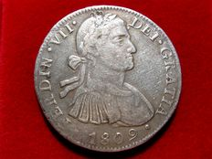 Spain – Fernando VII (1813 – 1833) – 8 silver reales with imaginary bust – 1809 – Mexico H·J.