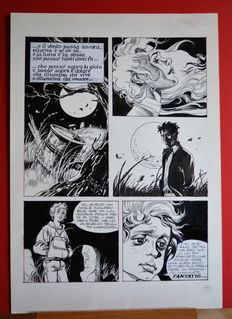Casertano, Giampiero - original plate for Dylan Dog