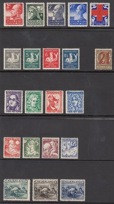 The Netherlands 1927 – Six series – NVPH 203/207, 220/223, 224, 225/228, 229/231 and 232/235