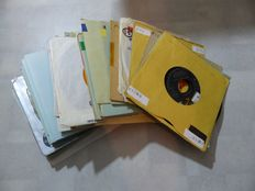 Country records, 50 singles from various artists - 1950s/60s/70s/80s (50 singles)