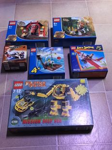 Orient Expedition / Space / Alpha Team / 4 Juniors - 6 sets including 7411 + 4789 - Tygurah's Roar + Alpha Team Aquatic Mech