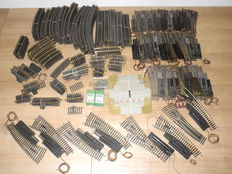 Fleischmann H0 - 1726/6001/1703/-23/e.a. - 326-piece lot with rails and many adjustment pieces  [69]