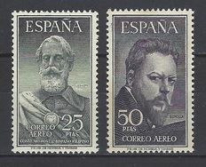 Spain – 1953 – Legazpi and Sorolla – Edifil #1124/1125