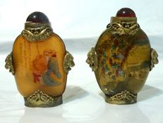 Two Snuff bottles in glass - China - second half 20th century