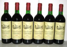 1975, Château Coudert, Grand Cru de Saint-Emilion – Lot of 6 bottles