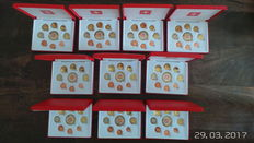 Switzerland  - 10 Coin Sets 2003 Probe Euro