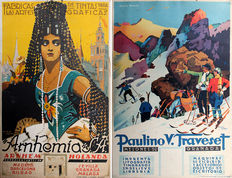 Curt Volker - 3 posters Granada / printing ink and paint - ca. 1930