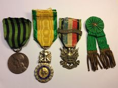 France 1870 - lot of military medals