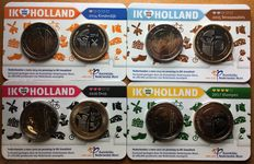 The Netherlands – Holland coin card 2014, 2015, 2016 and 2017 (4 different ones)