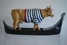 Mark Cordes for Cow Parade - Cowdolier - Large & Retired - 2-part