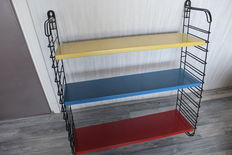 A. Dekker for Tomado – bookshelf/wall rack in Rietveld/Mondriaan colours