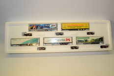 Märklin H0 - 48045 - Carriage unit combirail with 5 different semi trailers