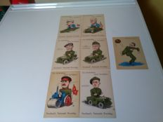 The Netherlands-1945-7 cards-in commemoration of our liberators + Well played, boys!