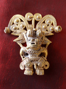 Pre-Colombian Tumbaga Gold - 50x40mm, 20grms