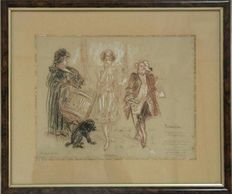 Richard Ranft (1862-1931) sketches for Florence nights
