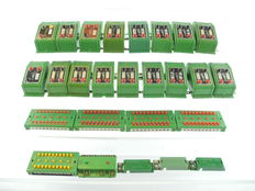 Fleischmann H0 - 6953/-56/-52/-41 - Electric accessories: 17 switches 5 distributor boards, 1 relay and 3 interruptor switches