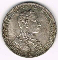 German Empire, Prussia - 3 Mark 1914 A - silver