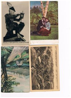 Old German postcards more than 100 x.
