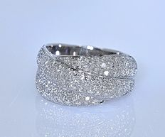 1.29 ct River Diamonds ring - No reserve price!