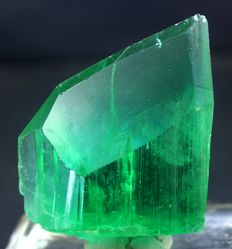 Top Grade Terminated Lush Green Color Kunzite Hiddenite Crystal with Facet Grade Clarity - 60 x 48 x 20 mm - 101 Gram