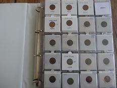 United States - Collection of coins in collector's album (approx. 210 coins), 1 and 5 cents