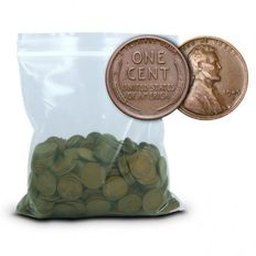 USA - 500 piece of copper Lincoln wheat cents - 3 pound / pound copper - different vintages - treasure chest!