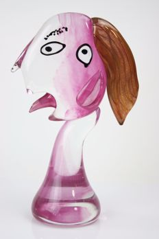R.Rysz - Glass Sculpture 'Lady'