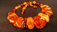 Natural Baltic amber necklace, 77 grams
