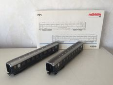 Märklin H0 - 43219 - 2-part expansion set  Schürzenwagen 'Loreley' of the DB