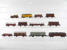 Fleischmann/Roco/a.o. N - 12 different freight carriages most of the DB [697]