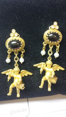 Much sought-after handmade earrings in gold and diamonds, by Antonio Triunfo – Handcrafted by a goldsmith