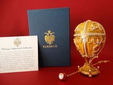 Authentic Fabergé Imperial egg -  Swarovski rhinestones - 24 k gold plated finishing